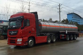硝酸铵半挂运输车(不锈钢)保温